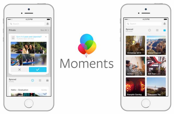 Приложение Moments от Facebook
