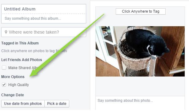 опции Фейсбук