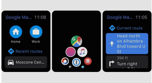 google maps для смарт часов apple watch