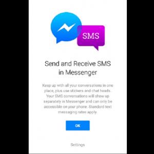 Facebook предлагает отправлять SMS из Messenger
