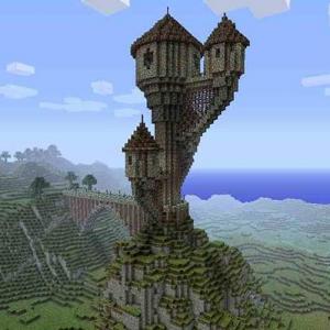 красивый дом в игре майнкрафт. постройка