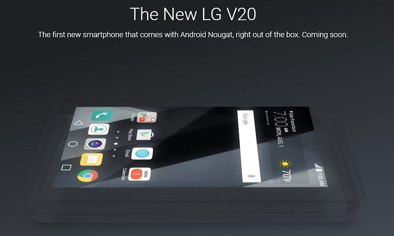 LG V20 спецификации