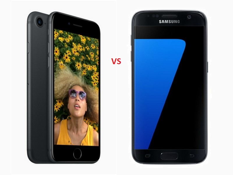 iPhone 7 vs Galaxy S7.