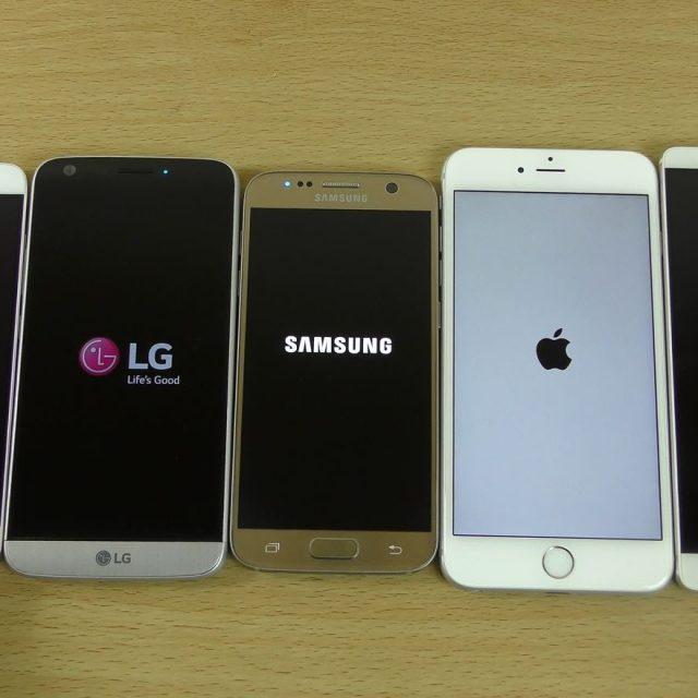 смартфоны разных производителей