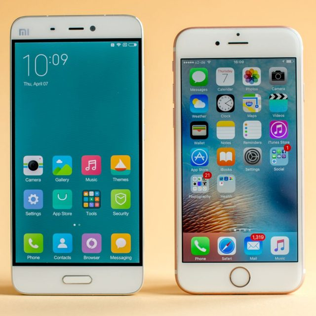 androidpit-xiaomi-mi5-vs-apple-iphone-6s-screen