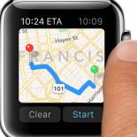 Приложение Google Maps для смарт часов Apple Watch